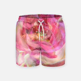 Thumbnail image of blooming pink rose texture abstract background Swim Shorts, Live Heroes