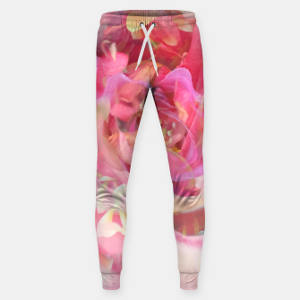 Thumbnail image of blooming pink rose texture abstract background Sweatpants, Live Heroes