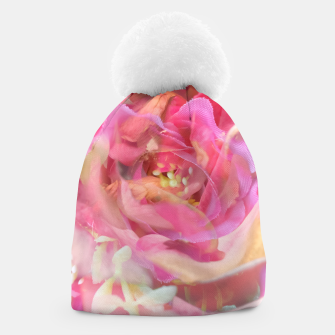 Thumbnail image of blooming pink rose texture abstract background Beanie, Live Heroes