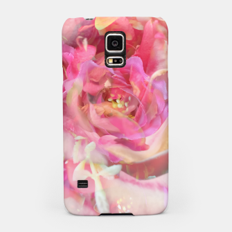 Thumbnail image of blooming pink rose texture abstract background Samsung Case, Live Heroes