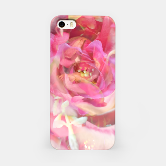 Thumbnail image of blooming pink rose texture abstract background iPhone Case, Live Heroes