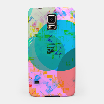 Thumbnail image of geometric circle pattern abstract in blue pink green yellow Samsung Case, Live Heroes