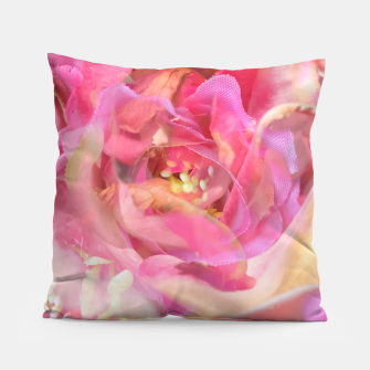 Thumbnail image of blooming pink rose texture abstract background Pillow, Live Heroes