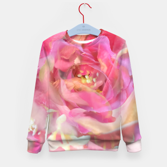 Thumbnail image of blooming pink rose texture abstract background Kid's sweater, Live Heroes