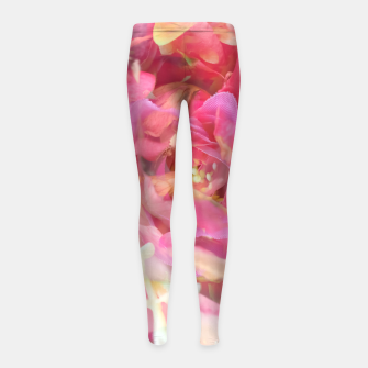 Thumbnail image of blooming pink rose texture abstract background Girl's leggings, Live Heroes