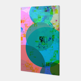 Miniatur geometric circle pattern abstract in blue pink green yellow Canvas, Live Heroes