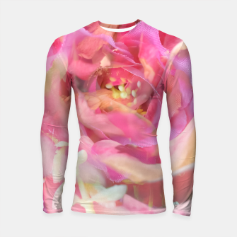 Thumbnail image of blooming pink rose texture abstract background Longsleeve rashguard , Live Heroes