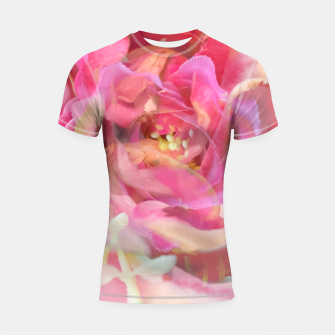 Thumbnail image of blooming pink rose texture abstract background Shortsleeve rashguard, Live Heroes