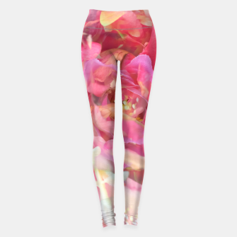 Thumbnail image of blooming pink rose texture abstract background Leggings, Live Heroes