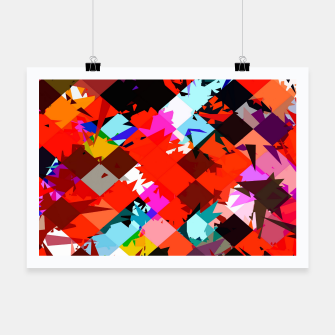 Miniaturka geometric square pixel pattern abstract in red blue pink Poster, Live Heroes