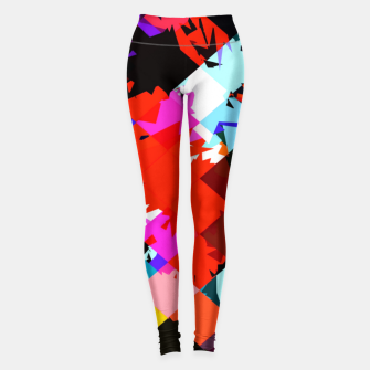Miniaturka geometric square pixel pattern abstract in red blue pink Leggings, Live Heroes