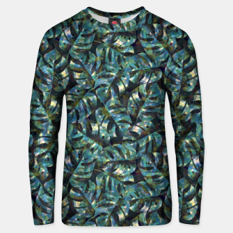 Miniatur Monstera Leaves Unisex sweater, Live Heroes