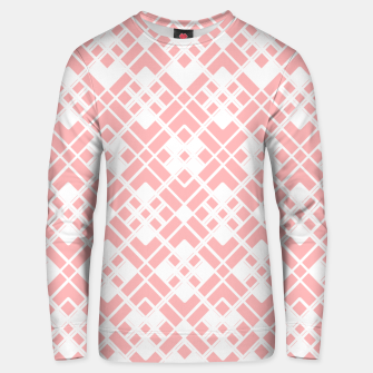 Miniaturka Abstract geometric pattern - pink and white. Unisex sweater, Live Heroes