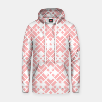 Thumbnail image of Abstract geometric pattern - pink and white. Hoodie, Live Heroes
