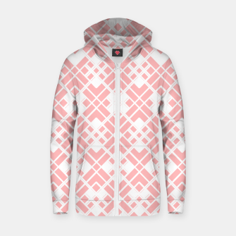 Miniaturka Abstract geometric pattern - pink and white. Zip up hoodie, Live Heroes