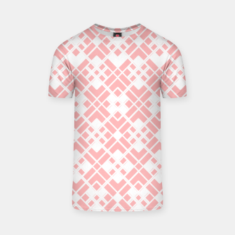 Miniaturka Abstract geometric pattern - pink and white. T-shirt, Live Heroes
