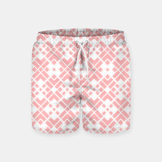 Thumbnail image of Abstract geometric pattern - pink and white. Swim Shorts, Live Heroes