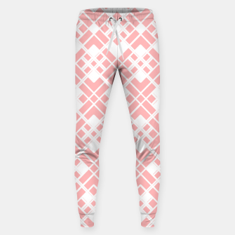 Thumbnail image of Abstract geometric pattern - pink and white. Sweatpants, Live Heroes