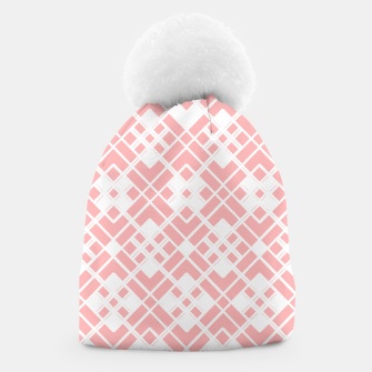Miniaturka Abstract geometric pattern - pink and white. Beanie, Live Heroes