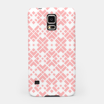 Thumbnail image of Abstract geometric pattern - pink and white. Samsung Case, Live Heroes