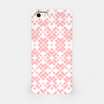Miniaturka Abstract geometric pattern - pink and white. iPhone Case, Live Heroes