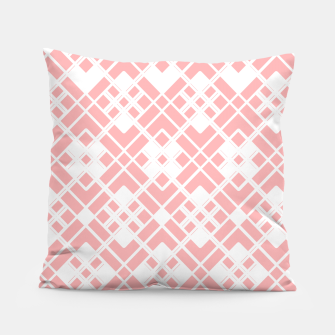 Miniaturka Abstract geometric pattern - pink and white. Pillow, Live Heroes