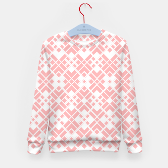 Miniaturka Abstract geometric pattern - pink and white. Kid's sweater, Live Heroes