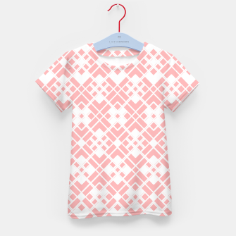 Miniaturka Abstract geometric pattern - pink and white. Kid's t-shirt, Live Heroes