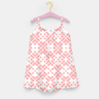 Miniaturka Abstract geometric pattern - pink and white. Girl's dress, Live Heroes