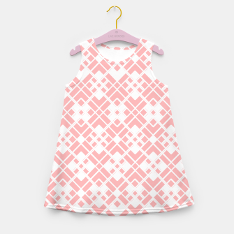 Miniaturka Abstract geometric pattern - pink and white. Girl's summer dress, Live Heroes