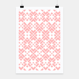 Thumbnail image of Abstract geometric pattern - pink and white. Poster, Live Heroes