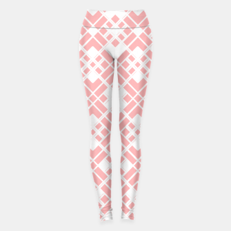 Miniaturka Abstract geometric pattern - pink and white. Leggings, Live Heroes