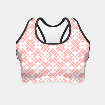 Miniaturka Abstract geometric pattern - pink and white. Crop Top, Live Heroes