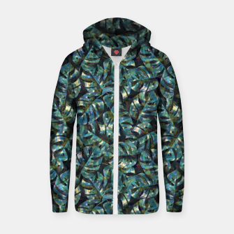 Miniature de image de Monstera Leaves Zip up hoodie, Live Heroes
