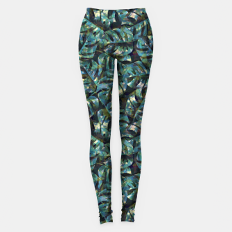 Thumbnail image of Monstera Leaves Leggings, Live Heroes