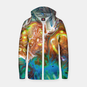 Thumbnail image of Abstract Crossfire Zip up hoodie, Live Heroes
