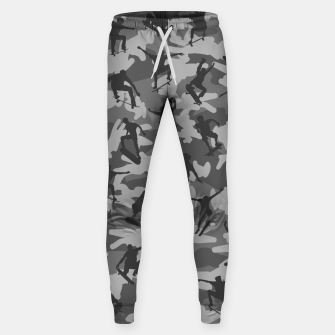 Miniatur Skater Camo B&W skateboarding graffiti camouflage pattern for skateboarder boys and girls Sweatpants, Live Heroes