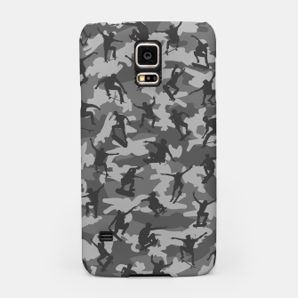 Miniatur Skater Camo B&W skateboarding graffiti camouflage pattern for skateboarder boys and girls Samsung Case, Live Heroes