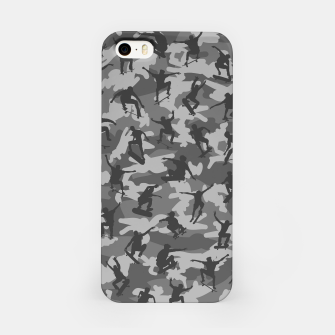Miniatur Skater Camo B&W skateboarding graffiti camouflage pattern for skateboarder boys and girls iPhone Case, Live Heroes