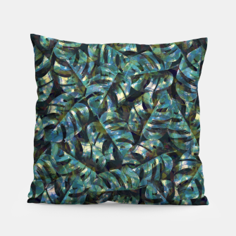 Miniatur Monstera Leaves Pillow, Live Heroes