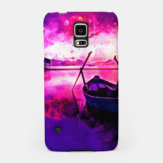 Thumbnail image of sunrise boat silence watercolor splatters Samsung Case, Live Heroes