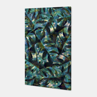 Thumbnail image of Monstera Leaves Canvas, Live Heroes