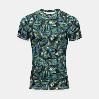 Thumbnail image of Monstera Leaves Shortsleeve rashguard, Live Heroes