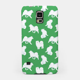Thumbnail image of Samoyed Pattern (Green Background) Samsung Case, Live Heroes