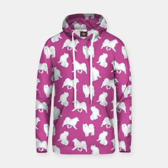 Thumbnail image of Samoyed Pattern (Berry Background) Hoodie, Live Heroes