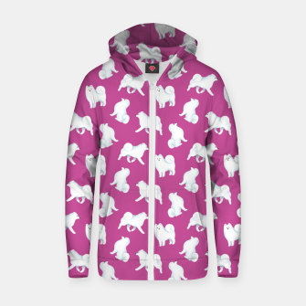 Miniaturka Samoyed Pattern (Berry Background) Zip up hoodie, Live Heroes