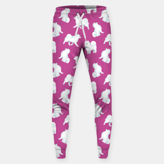 Thumbnail image of Samoyed Pattern (Berry Background) Sweatpants, Live Heroes