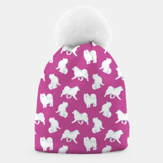 Thumbnail image of Samoyed Pattern (Berry Background) Beanie, Live Heroes