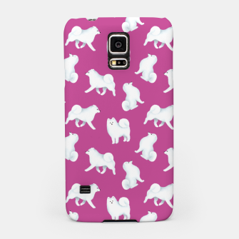 Thumbnail image of Samoyed Pattern (Berry Background) Samsung Case, Live Heroes