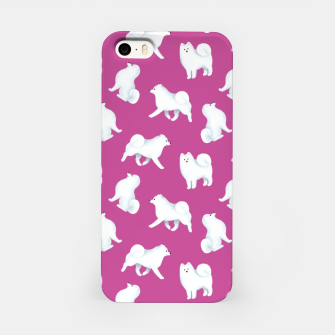 Thumbnail image of Samoyed Pattern (Berry Background) iPhone Case, Live Heroes